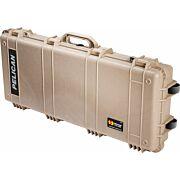 """PELICAN 1700 CASE W/ WHEELS 3 PC FOAM FITS 34"""" GUNS TAN"""