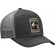 "LEUPOLD HAT TRUCKER ""LEUPOLD OPTICS"" MESH BLACK/CHARCOAL OS"