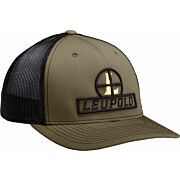 "LEUPOLD HAT TRUCKER ""RETICLE"" MESH LODEN/BLACK OS"