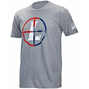 LEUPOLD T-SHIRT USA RETICLE S-SLEEVE HEATHER GRAY X-LARGE!