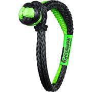 "BUBBA ROPE GATOR JAW 3/8"" SYNTHETIC SHACKLE BLACK/GREEN"