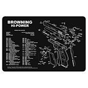 """TEKMAT ARMORERS BENCH MAT 11""""x17"""" BROWNING HI-POWER"""