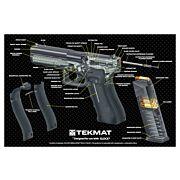 "TEKMAT ARMORERS BENCH MAT 11""x17"" GLOCK 17 G4 CUT AWAY"