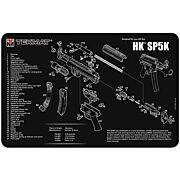 """TEKMAT ARMORERS BENCH MAT 11""""x17"""" HECKLER & KOCH SP5K"""