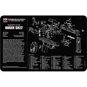"""TEKMAT ARMORERS BENCH MAT 11""""x17"""" RUGER SR-22 PISTOL"""