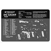 "TEKMAT ARMORERS BENCH MAT 11""x17"" SIG SAUER 226 PISTOL"