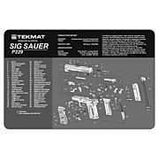 "TEKMAT ARMORERS BENCH MAT 11""x17"" SIG SAUER 229 PISTOL"