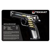 "TEKMAT ARMORERS BENCH MAT 11""X17"" S&W M&P CUT AWAY!"