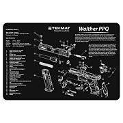 "TEKMAT ARMORERS BENCH MAT 11""x17"" WALTHER PPQ PISTOL"
