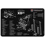 "TEKMAT ARMORERS BENCH MAT 11""x17"" SPRINGFIELD XDE PISTOL"