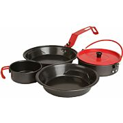 COLEMAN RUGGED 1-PERSON MESS KIT PAN,POT,PLATE,CUP, LID