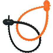 "UST SNAKE TIES 6 PACK 3BLACK/3 ORANGE 8"" .2OZ"