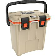 PELICAN COOLERS IM 20 QUART ELITE TAN/ORANGE LEG CUT OUT