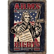"RIVERS EDGE EMBOSSED SIGN 12""X17"" ""ARMS CHANGE"""