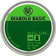 RWS PELLETS .177 DIABOLO BASIC LINE 7.0 GRAINS 300-PACK