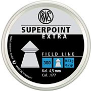 RWS PELLETS .177 SUPERPOINT EXTRA 8.2 GRAINS 300-PACK