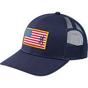BG CAP GLORY MESH SNAPBACK AMERICAN FLAG PATCH NBLUE OSFM