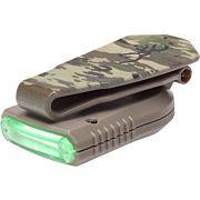 BG NIGHT SEEKER 2 CAP LIGHT USB RCHBLE MULTICAM WHTE/GREEN