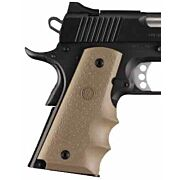 HOGUE GRIPS COLT GOVT MODEL W/FINGER GROOVES FDE