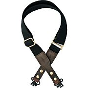 VERSACARRY COTTON WEB SLING W/ LEATHER ENDS & SWIVELS BLK