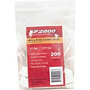 "SLIP 2000 CLEANING PATCHES SQUARE .17/.177 .75"" 200-PACK"