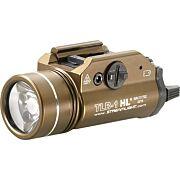 STREAMLIGHT TLR-1 HL C4 WHITE LED LIGHT W/RAIL FDE BROWN