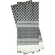 RED ROCK SHEMAGH HEAD WRAP WHITE/BLACK