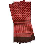 RED ROCK SHEMAGH HEAD WRAP RED/BLACK