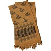RED ROCK SHEMAGH HEAD WRAP DON'T TREAD ON ME COYOTE/BLACK