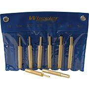 WHEELER 8-PC BRASS PUNCH SET W/STORAGE POUCH