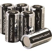 STREAMLIGHT CR123A BATTERIES LITHIUM 6-PACK