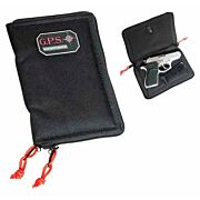 GPS PISTOL SLEEVE MEDIUM LOCKABLE ZIPPER BLACK NYLON