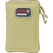 GPS PISTOL SLEEVE MEDIUM LOCKABLE ZIPPER TAN NYLON