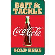 OPEN ROAD BRANDS DIE CUT EMB TIN BAIT & TACKLE COCA-COLA!
