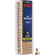 CCI AMMO .22 CB SHORT 710FPS. 29GR. LEAD-RN 100-PK.