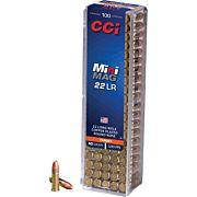 CCI AMMO MINI-MAG .22LR 1235FPS. 40GR. LEAD-RN 100-PK.