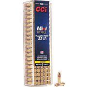 CCI AMMO MINI-MAG .22LR 1260FPS. 36GR. LEAD-HP 100-PK.