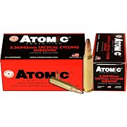 ATOMIC AMMO 5.56X45 SUBSONIC 112GR. ROUND NOSE SP 50-PACK