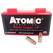 ATOMIC AMMO 9MM LUGER +P 124GR. BONDED JHP 50-PACK