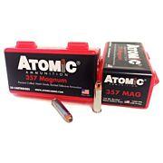 ATOMIC AMMO .357 REM. MAGNUM 158GR. BONDED JHP 50-PACK
