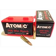 ATOMIC AMMO .308 WIN. MATCH 168GR. NOSLER BTHP 50-PACK