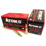 ATOMIC AMMO .223 REM. SUBSONIC 77GR. NOSLER BTHP 50-PACK