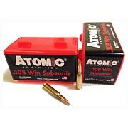 ATOMIC AMMO .308 WIN. SUBSONIC 175GR. SIERRA BTHP 50-PACK