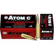 ATOMIC AMMO .308 WIN SUBSONIC 260GR. ROUND NOSE SP 50-PACK