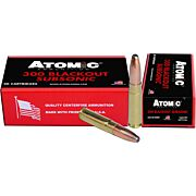 ATOMIC AMMO .300AAC BLACKOUT SUBSONIC 260GR. RNSP 20-PACK