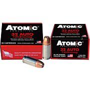 ATOMIC AMMO .32ACP +P 60GR. JHP 20-PACK