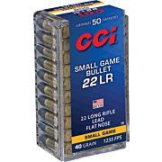 CCI AMMO SGB .22LR 1235FPS. 40GR. LEAD-FN 50-PACK