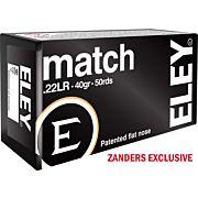 ELEY AMMO MATCH .22LR 40GR. EPS 50-PACK