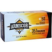 ARMSCOR AMMO .357 MAGNUM 158GR. FMJ 50-PACK MADE IN USA