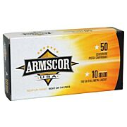 ARMSCOR AMMO 10MM 180GR. FMJ 50-PACK MADE IN USA